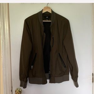 Olive colored Bomber